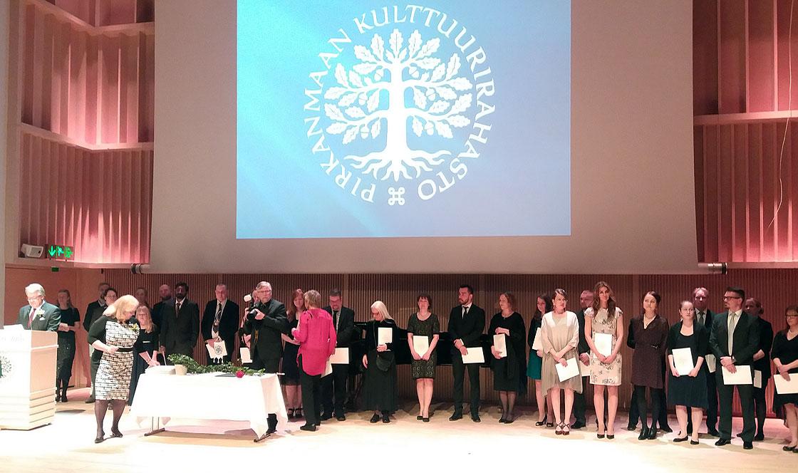 Suomen Kulttuurirahaston Pirkanmaan rahaston apurahojen myöntämistilaisuus